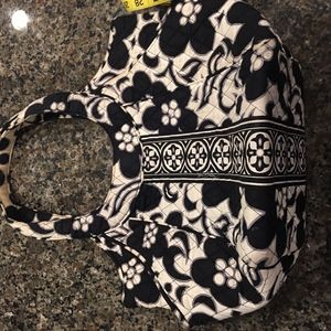 Vera Bradley white and black purse